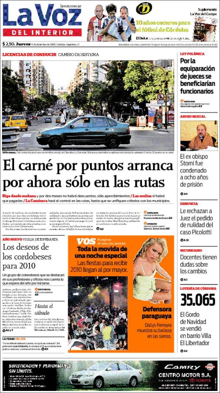 Peri dico la voz del interior argentina peri dicos de argentina edici n de viernes 1 de - La voz del interior ...