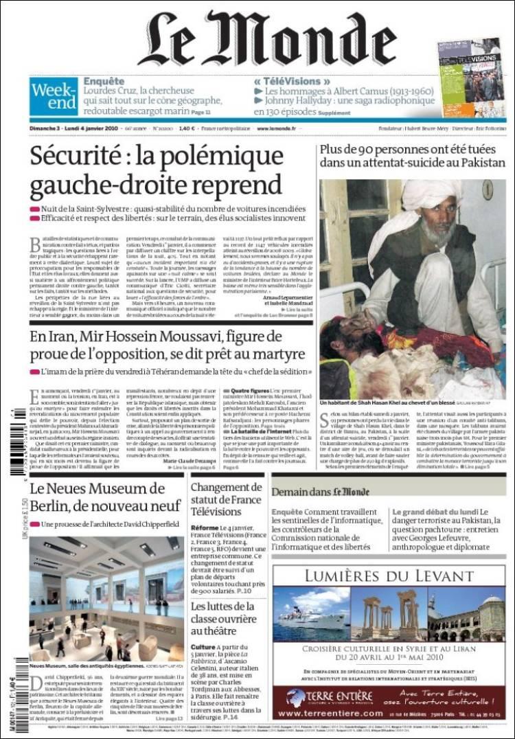 newspaper le monde france newspapers in france sunday. Black Bedroom Furniture Sets. Home Design Ideas