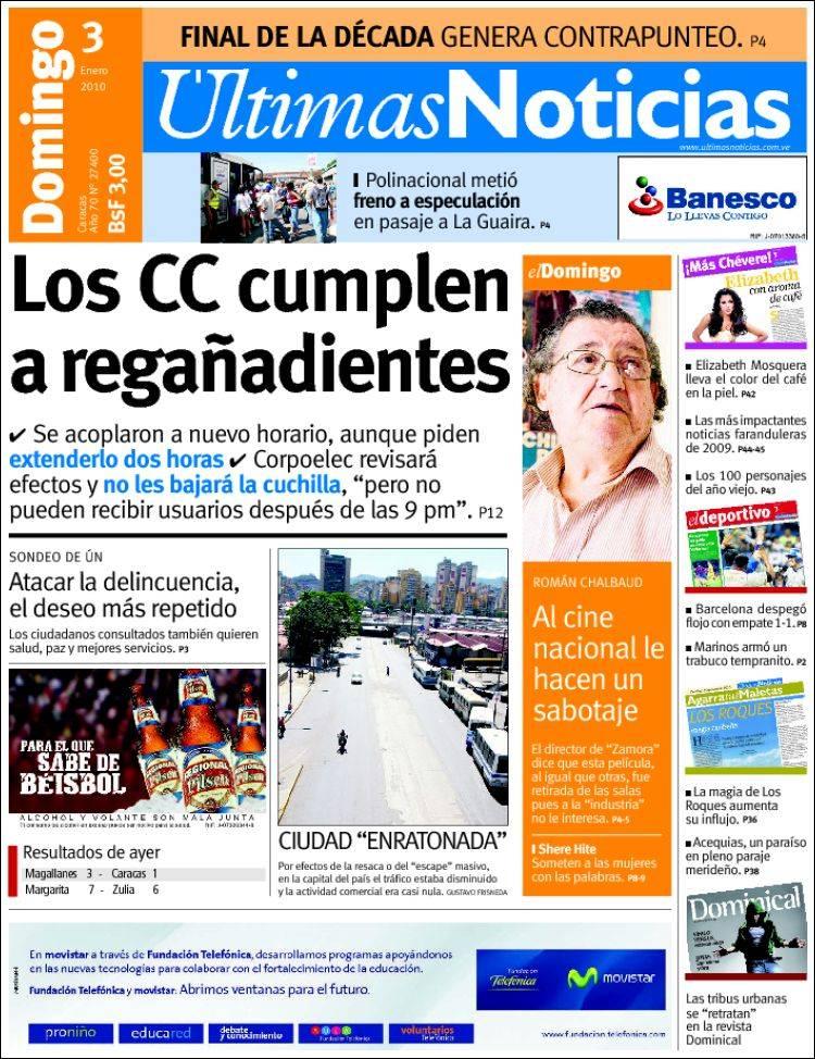 Peri dico ltimas noticias venezuela peri dicos de for Ultimasnoticias del espectaculo