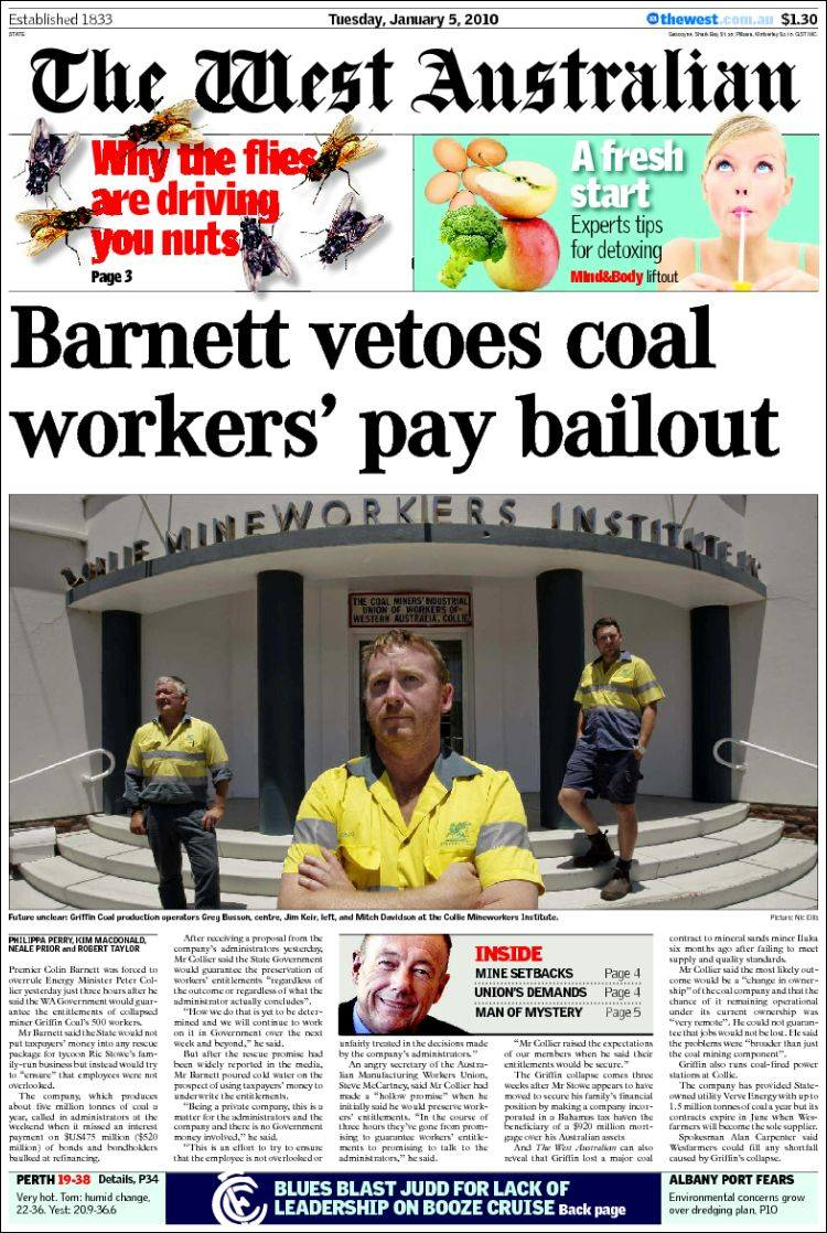 the newspaper west  brothel Perth