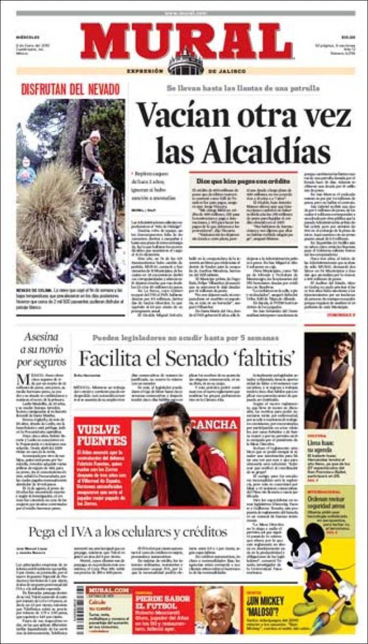 Noticias para el periodico mural en el nivel inicial for El mural periodico jalisco