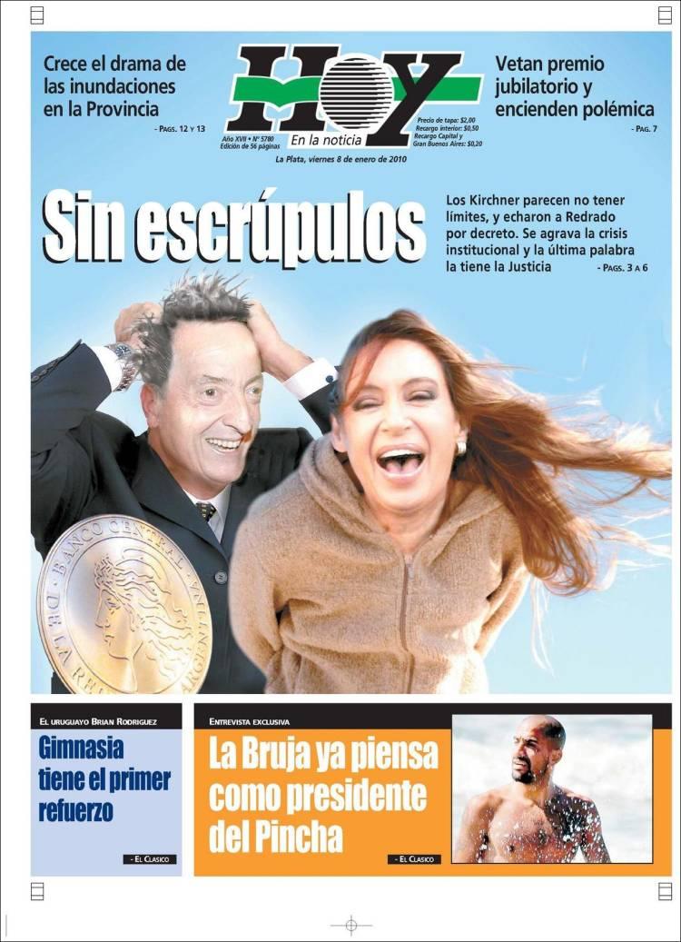 Opiniones de diario hoy argentina for Chimentos de hoy en argentina