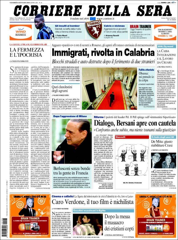 Newspaper corriere della sera italy newspapers in italy for Corriere della sera arredamento