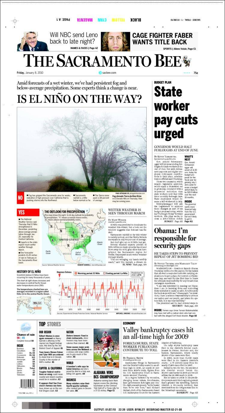 The Sacramento Bee is a daily newspaper published in Sacramento, California, and founded in
