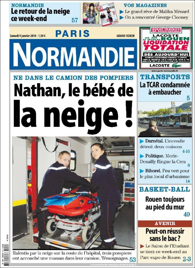 Journal paris normandie france les unes des journaux de france dition du - Journal basse normandie ...