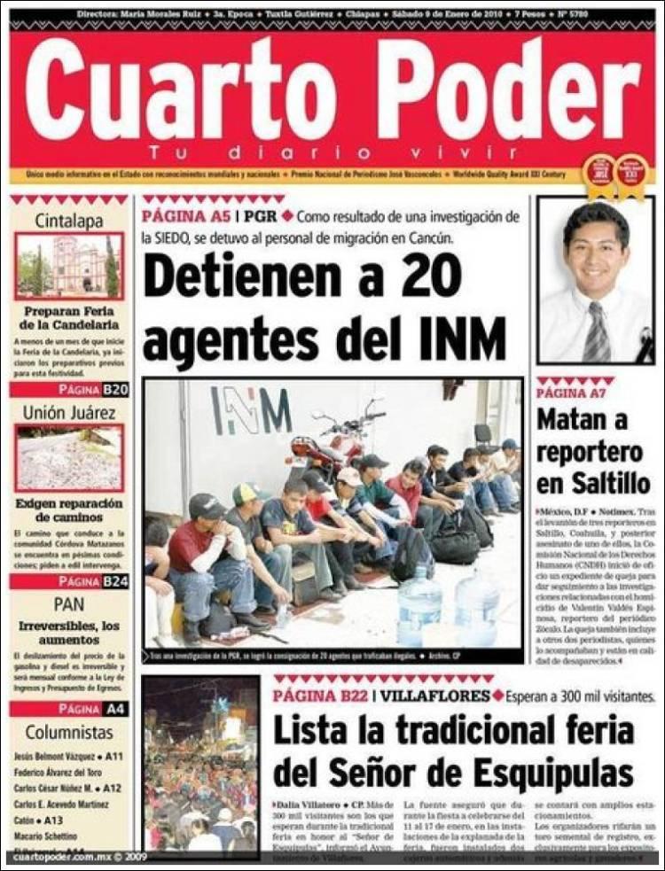 Periódico El Cuarto Poder (México). Periódicos de México ...