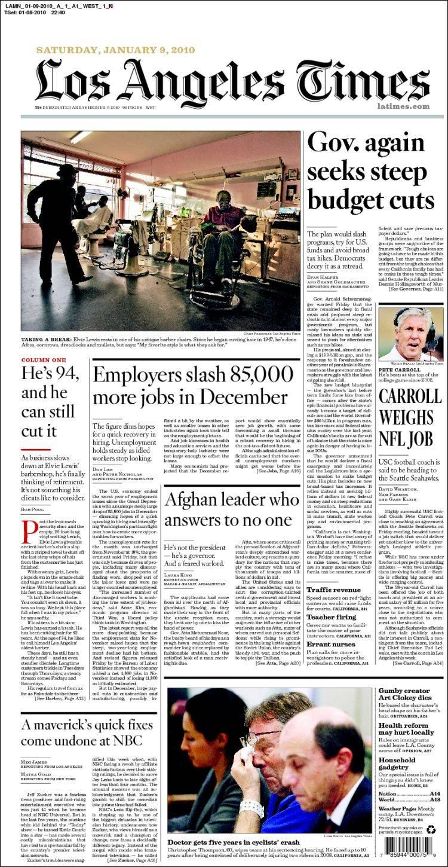 la times paper