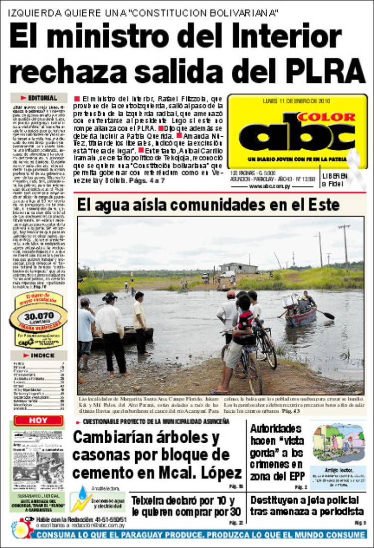 Newspaper ABC Color (Paraguay). Newspapers in Paraguay. Monday\'s ...