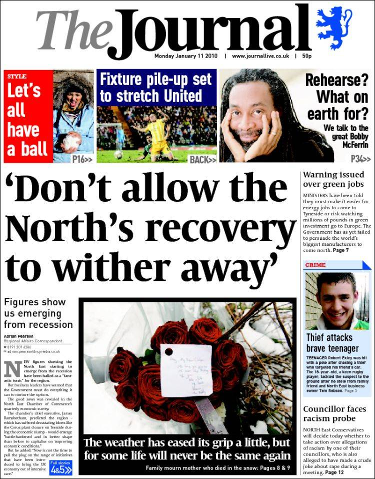 newspaper the journal  united kingdom   newspapers in united kingdom  monday u0026 39 s edition  january