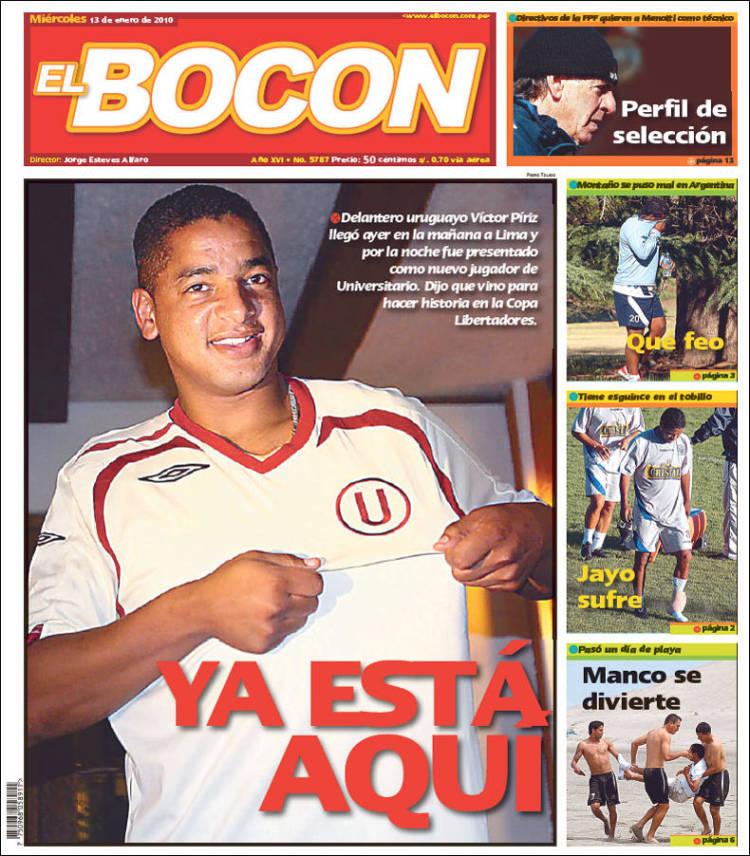 Periódico El Bocón Perú Periódicos De Perú Edición De Miércoles
