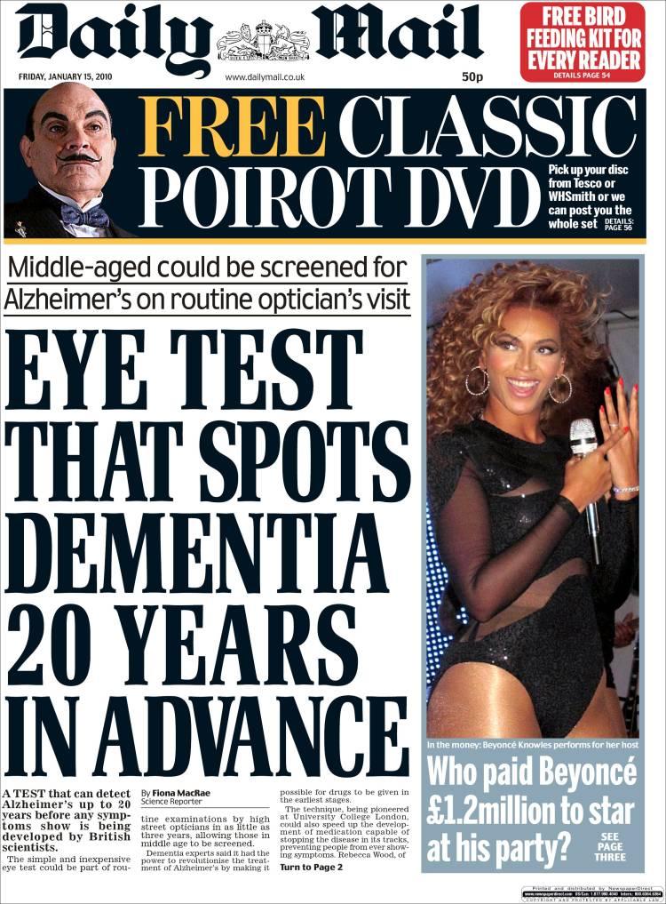 Portada De Daily Mail United Kingdom