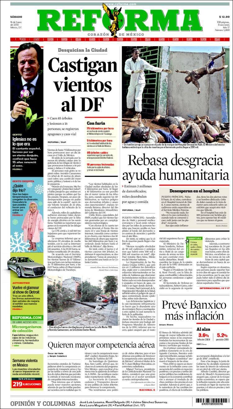 Opiniones De Reforma Periodico