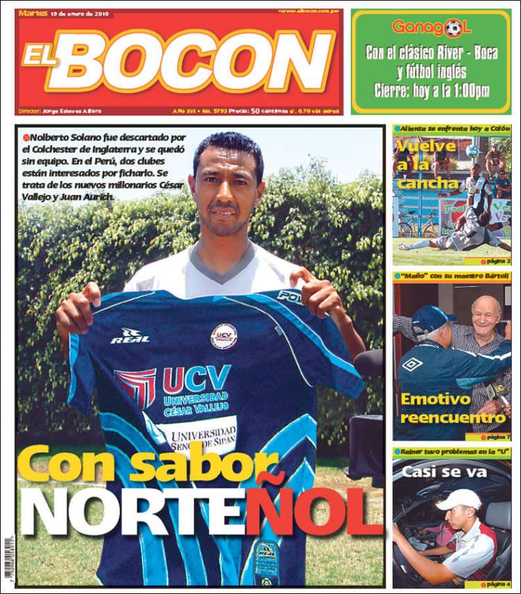 Newspaper El Bocón Peru Newspapers In Peru Tuesdays Edition