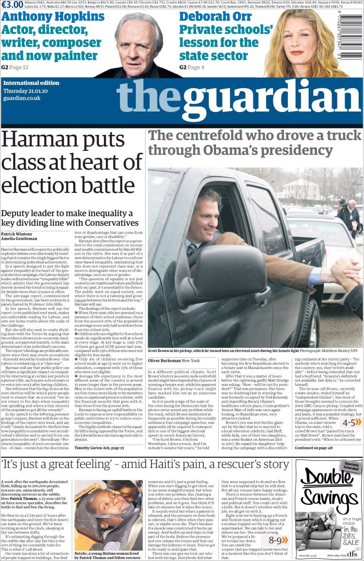 Newspaper The Guardian...