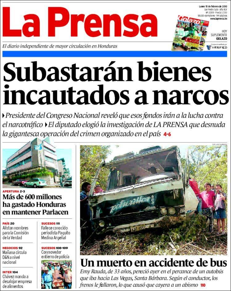 la prensa de honduras: