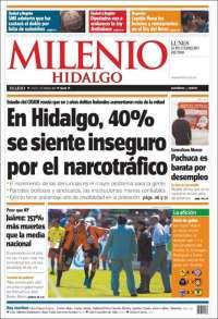 Portada de Milenio de Pachuca (México)