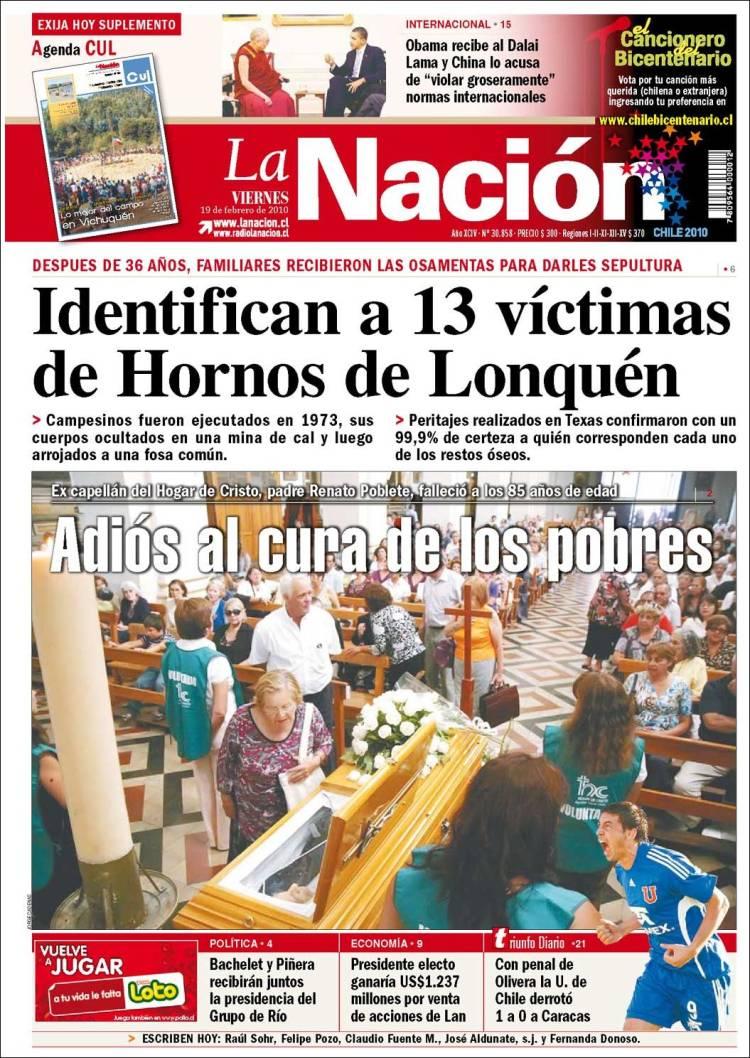 Portada de La Nación (Chile)