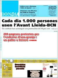 Portada de Diari Bondia Lleida (Spain)