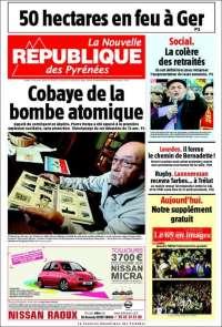 Portada de La Nouvelle Republique des Pyrénées (France)