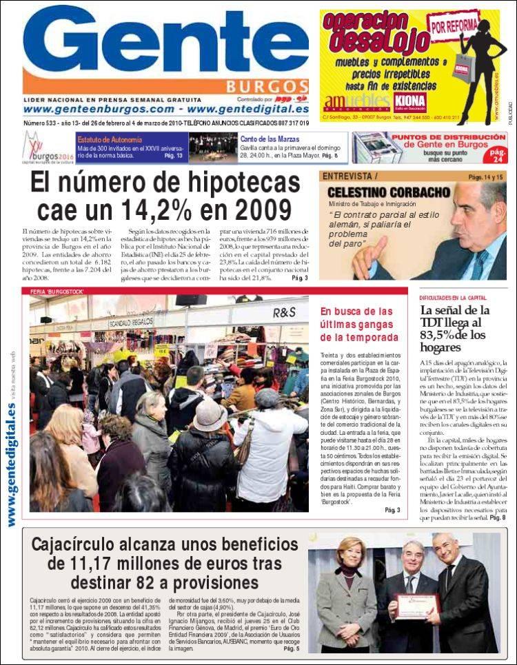 tienda tatuaje cornella llobregat. Portada del periódico Gente en Burgos (Burgos, España) : Portada de Viernes,