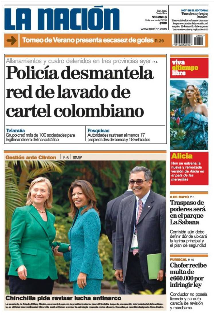 Peri dico la naci n costa rica costa rica peri dicos Noticias del dia de hoy en argentina espectaculos