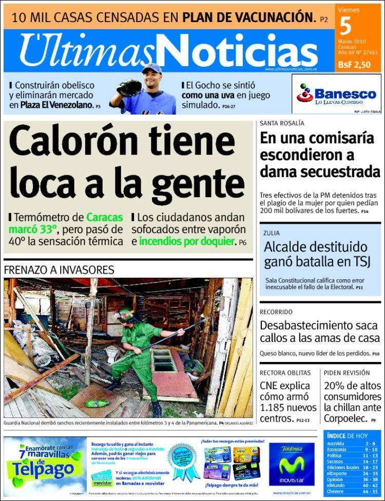 últimas noticias de venezuela