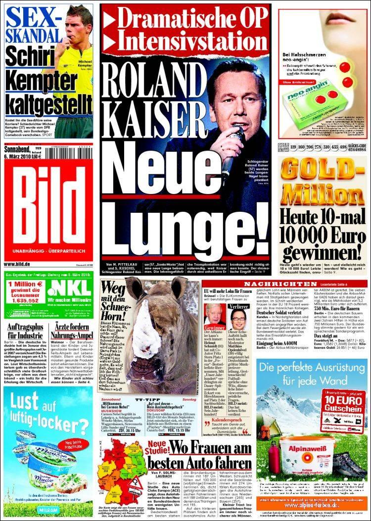 newspaper bild germany newspapers in germany saturday. Black Bedroom Furniture Sets. Home Design Ideas