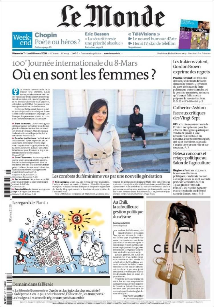 Related keywords suggestions for le monde journal - Le journal de la une ...