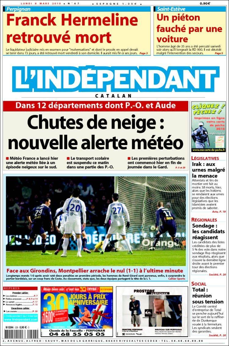 INDEPENDANT - Edition Pyrénées Orientales