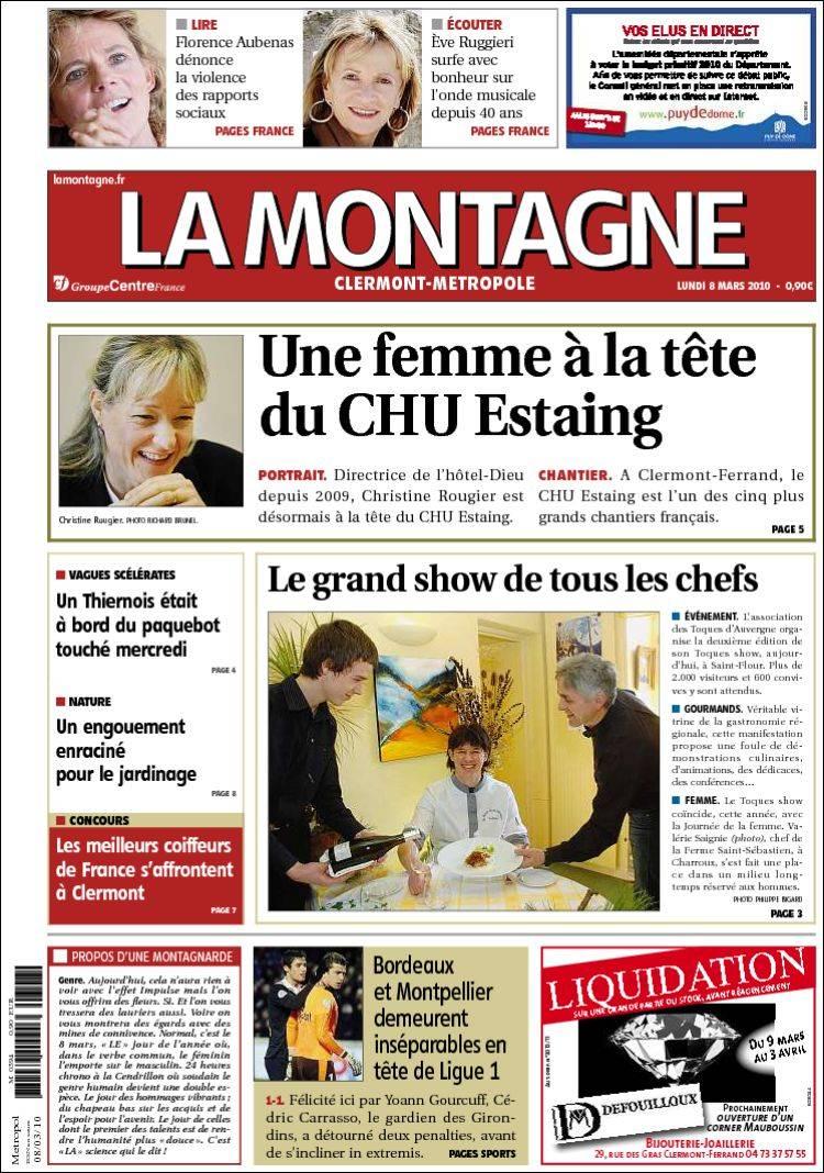 Journal la montagne for La montagne journal brive