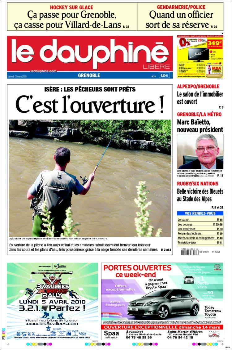 Journal le dauphin lib r france les unes des journaux for Le journal du pays d auge