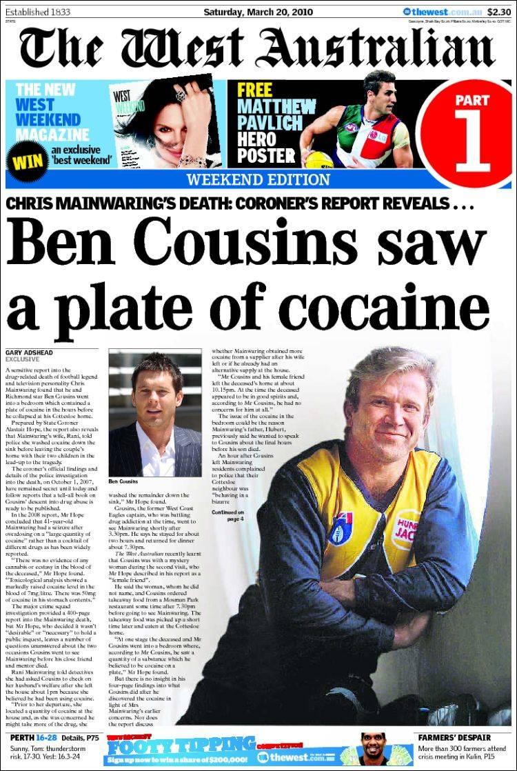newspaper the west australian  australia   newspapers in australia  saturday u0026 39 s edition  march 20