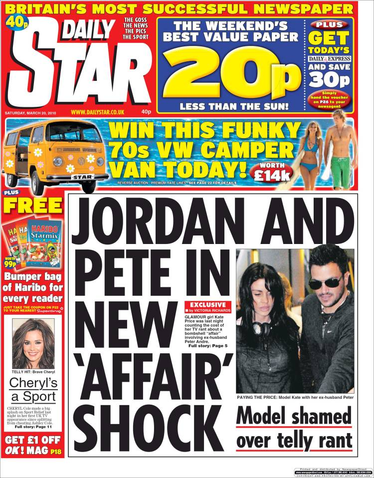 Newspaper Daily Star (United Kingdom). Newspapers in ... Daily Star