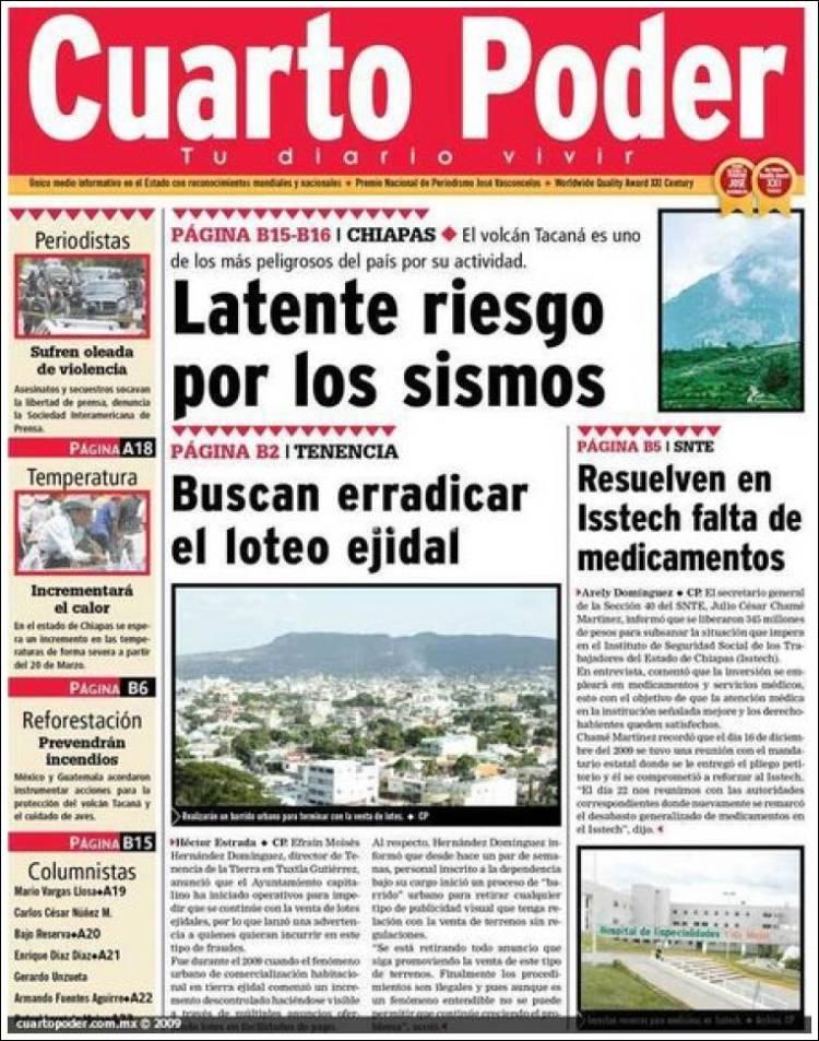 Cuarto Poder | Periodico El Cuarto Poder Mexico Periodicos De Mexico Edicion