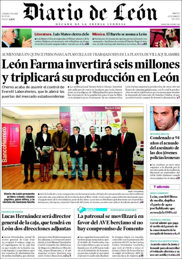 Periódico Diario de León - Bierzo (España). Periódicos de España ...