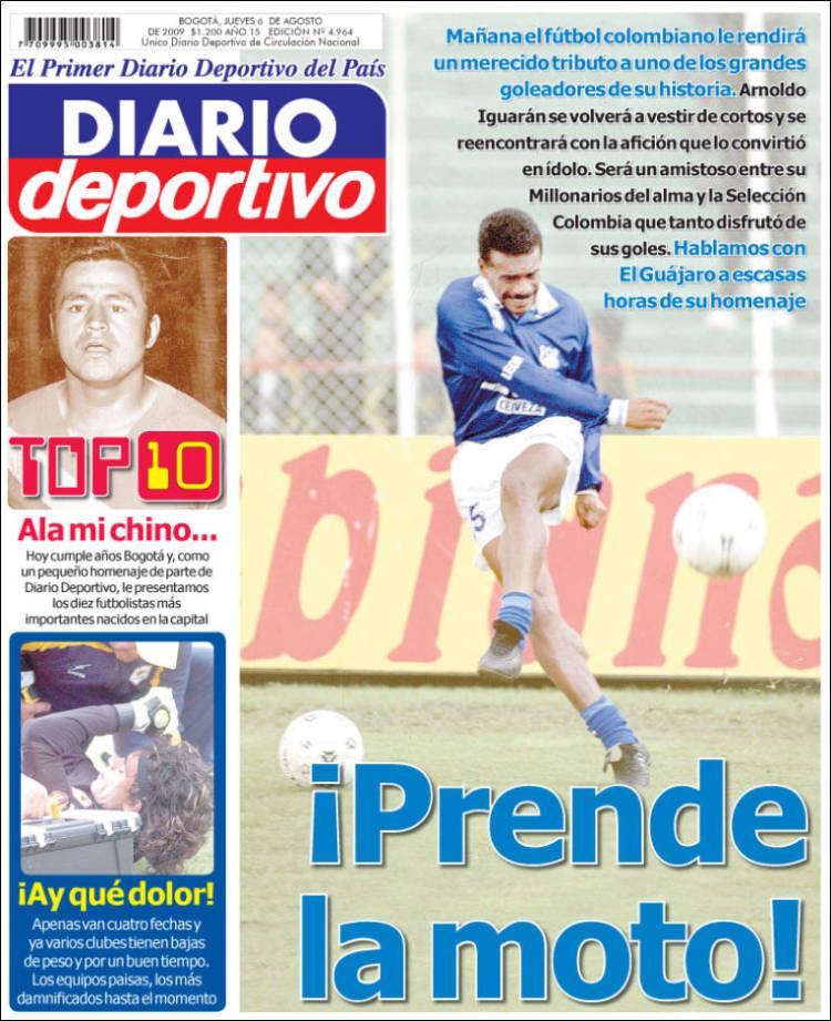 Portada de Diario Deportivo (Colombia)