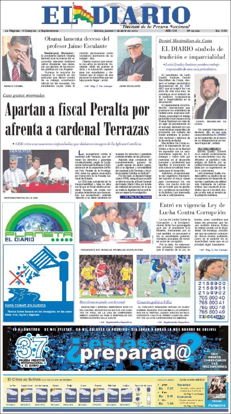 peri u00f3dico noticias el diario  bolivia   peri u00f3dicos de