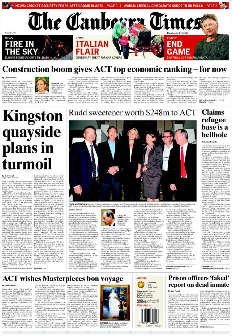 canberra times - photo #3