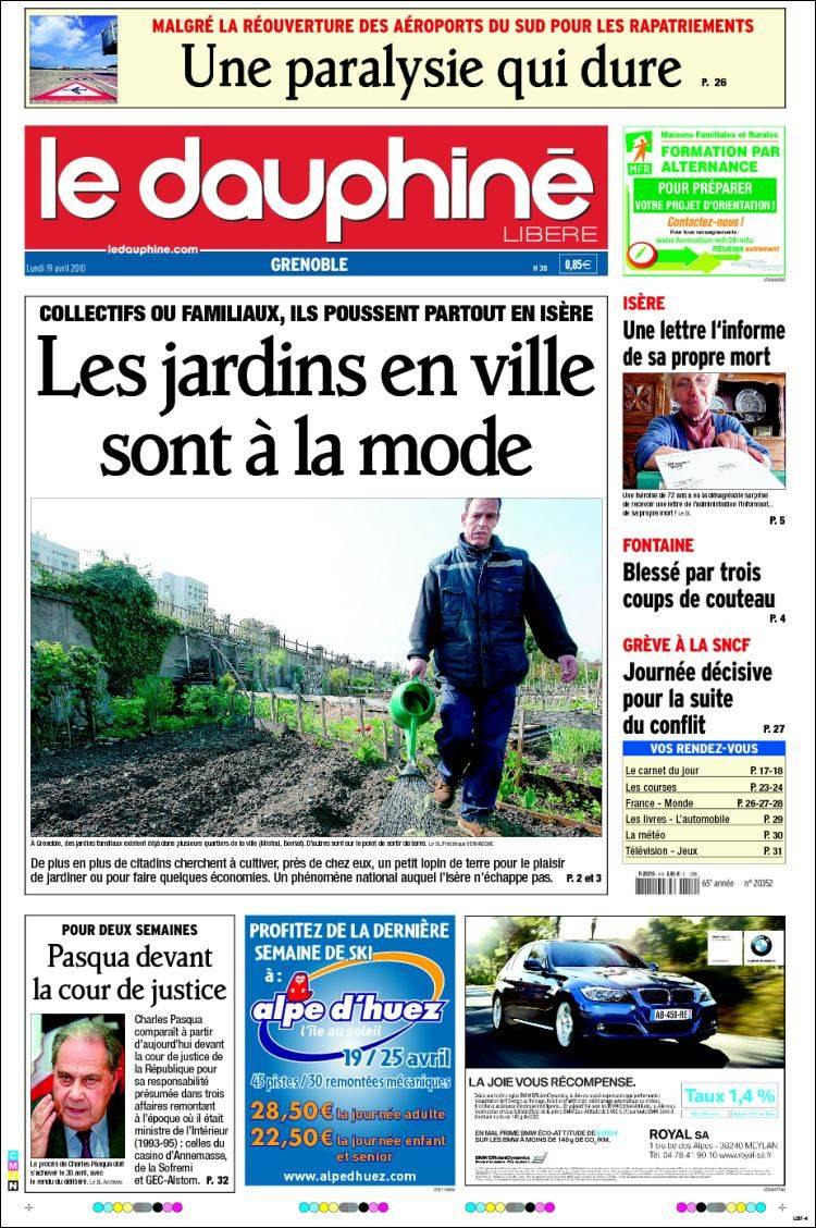 Journal le dauphin lib r france les unes des journaux de france dition - Le journal de la une ...