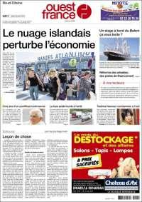 Journal ouest france france les unes des journaux de france dition du mardi 20 de avril de - Ouest france le journal gratuit ...