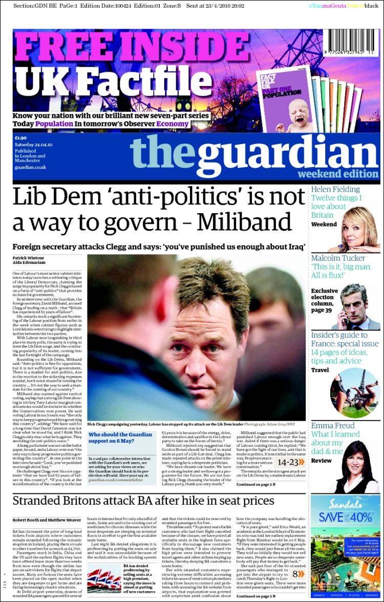 Newspaper The Guardian (United Kingdom). Newspapers in ...