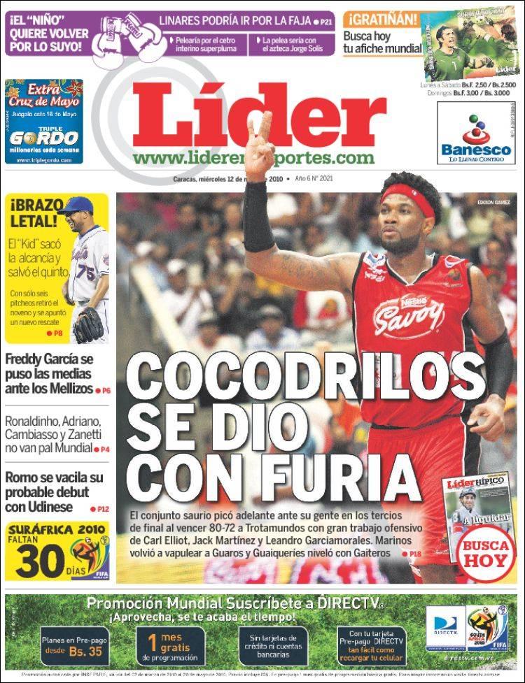 Peri dico lider en deportes venezuela peri dicos de for Deportes para un periodico mural