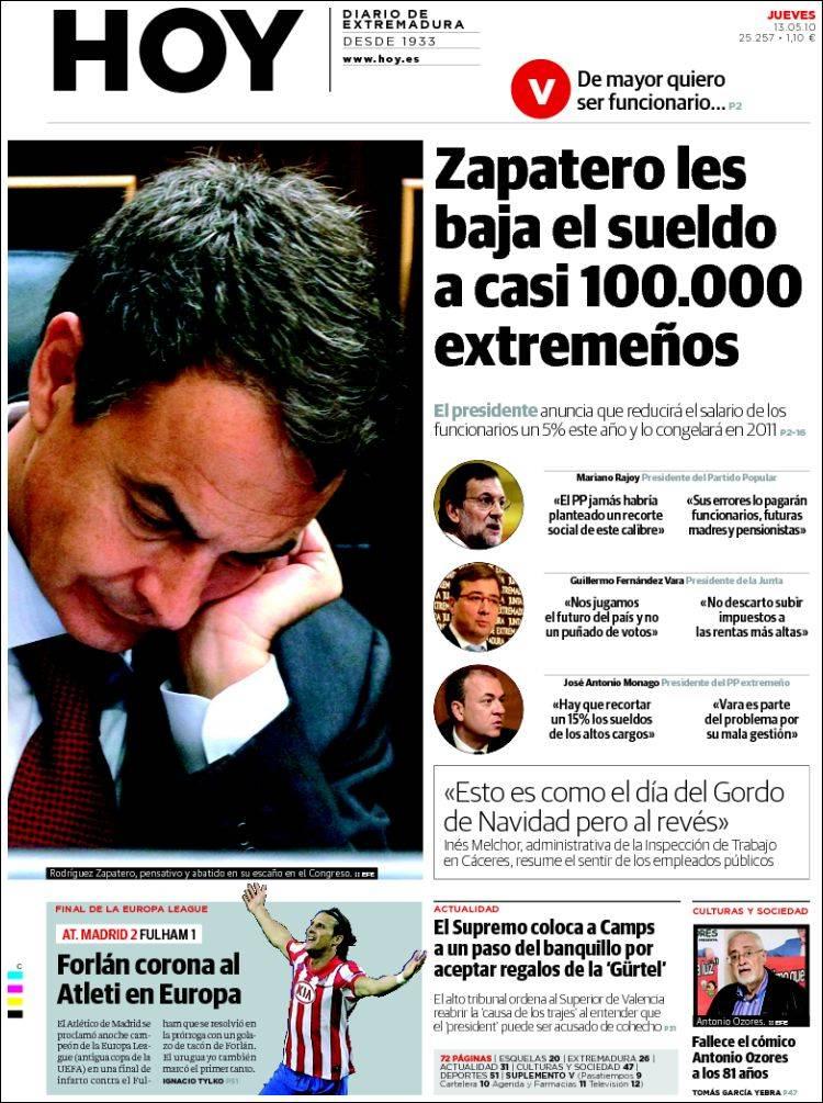 Peri dico hoy caceres espa a peri dicos de espa a for Noticias del espectaculo del dia de hoy argentina