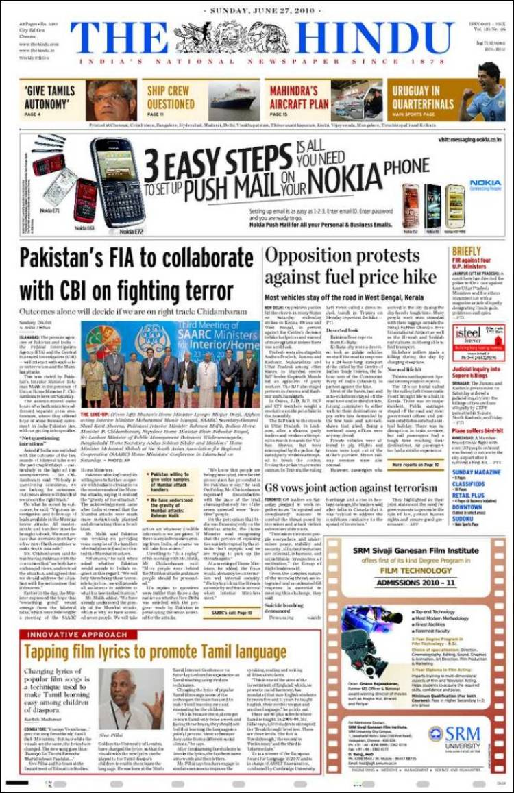 The Hindu News Paper Pdf