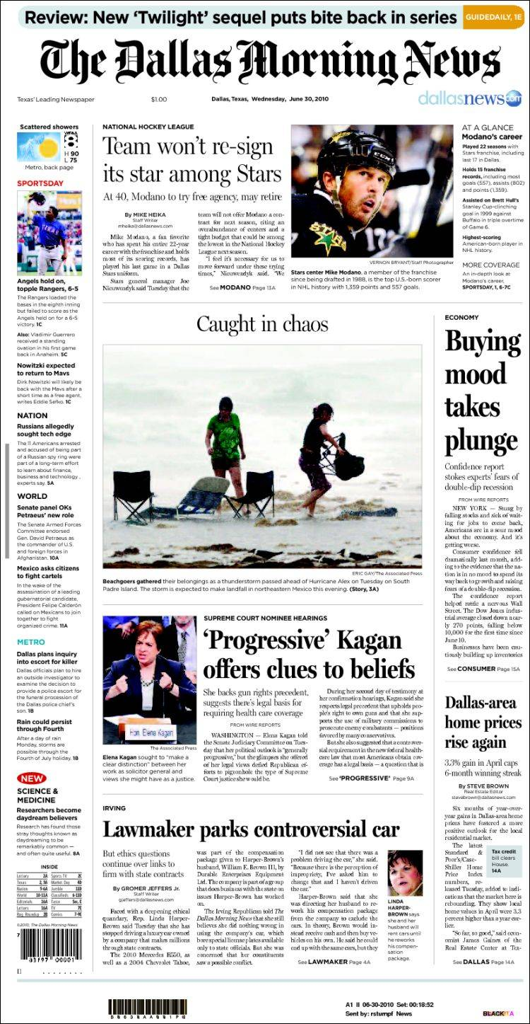 newspaper dallas morning news usa newspapers in usa wednesday s