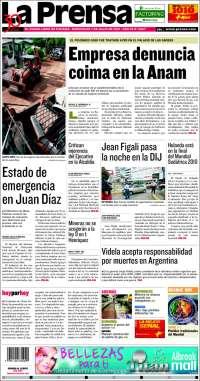 Portada de La Prensa (Panama)