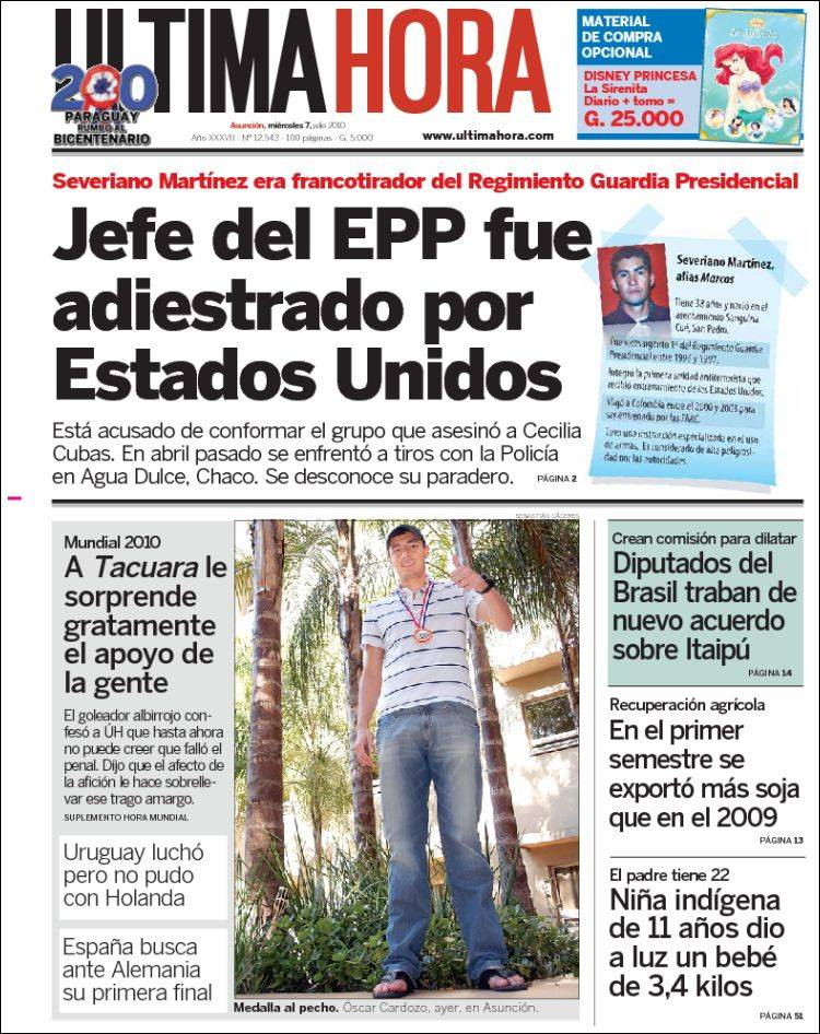 Newspaper Ltima Hora Paraguay Newspapers In Paraguay
