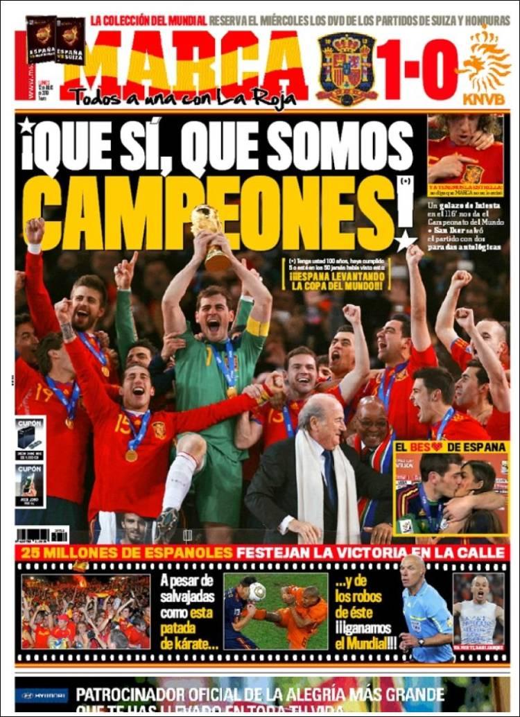 Espa a campeona de la copa del mundo de f tbol 2010 - Tarimas del mundo madrid ...