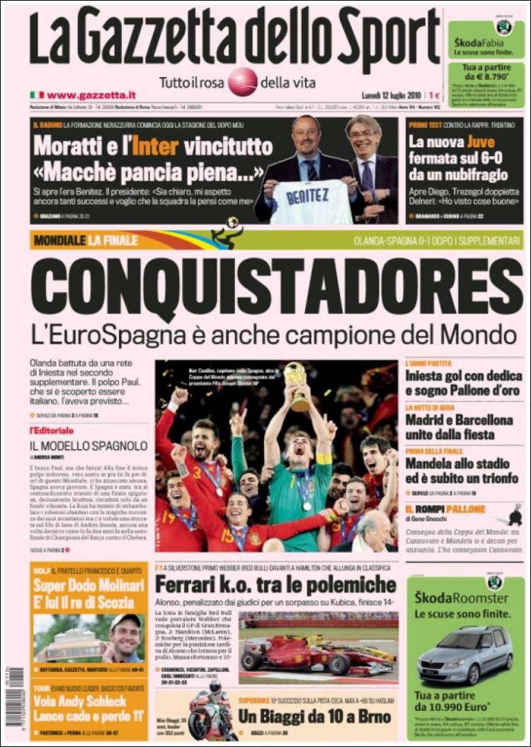 newspaper la gazzetta dello sport italy newspapers in italy monday 39 s edition july 12 of. Black Bedroom Furniture Sets. Home Design Ideas