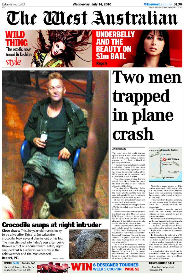 newspaper the west australian  australia   newspapers in australia  wednesday u0026 39 s edition  july 14